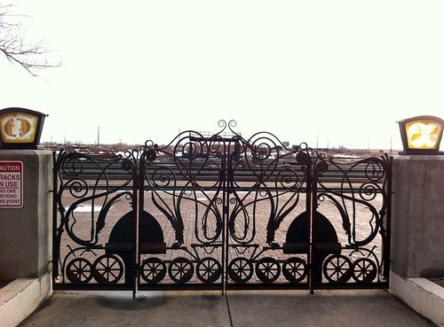 La Posada - Gates to Railroad Tracks