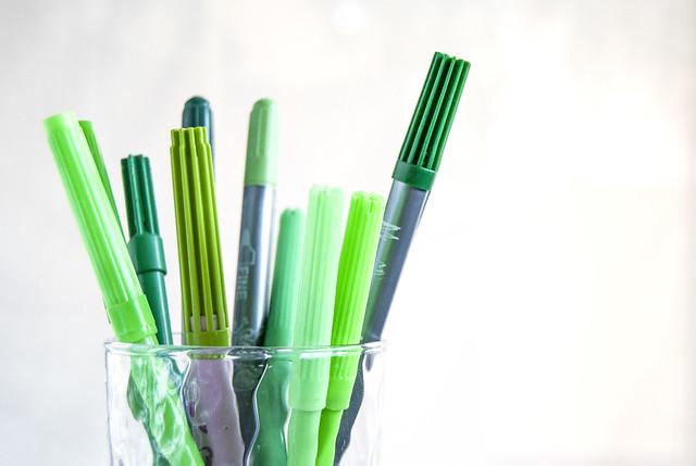 Dibujando en verde