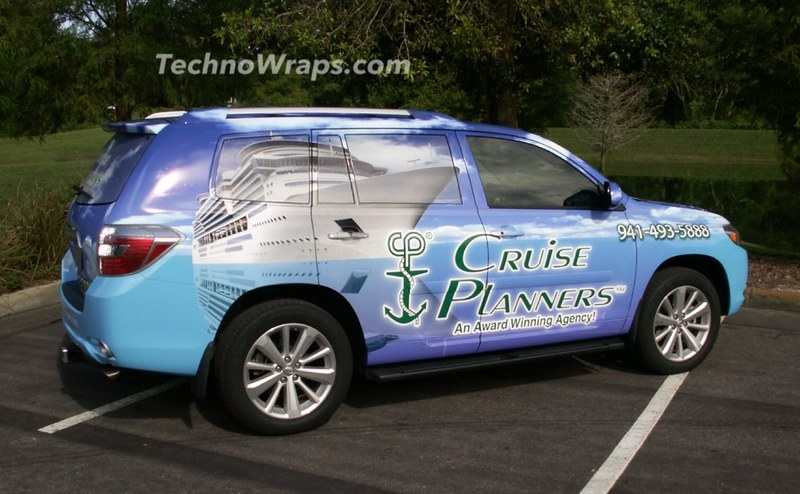 Toyota SUV vehicle wrap