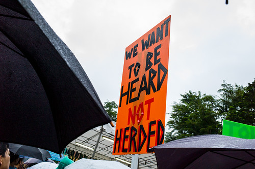 We want to be heard, not herded - possibly my favorite tagline from the protest!