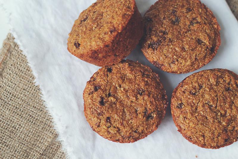multigrain carrot date muffins
