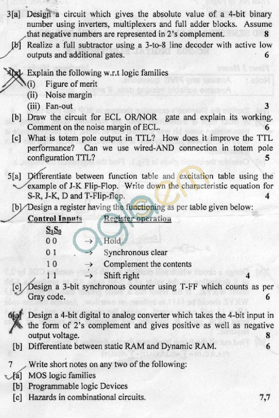 DTU Question Papers 2011 - 3 Semester - End Sem - EC-203