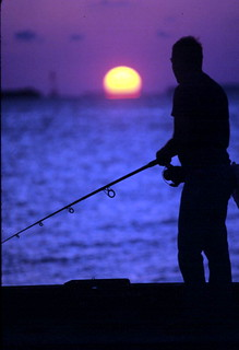 Fishing at sunset: Key West, Florida