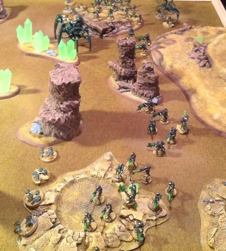 Necrons Deployed to face Tyranids