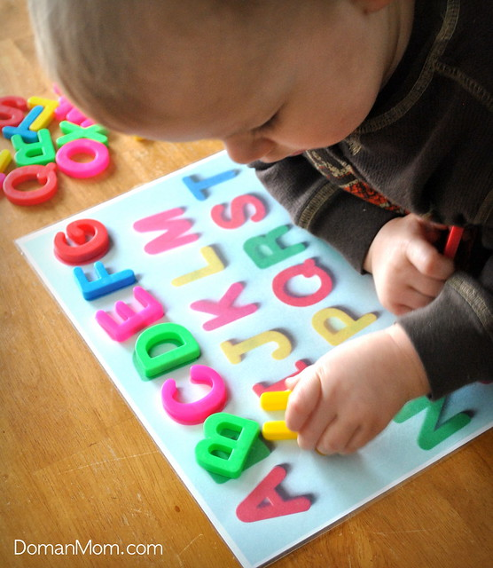 Make Your Own Alphabet Magnet Matching Game