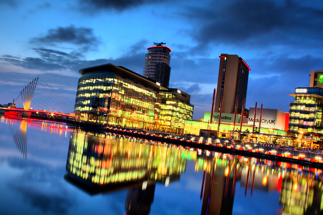 Salford City Lights - HDR