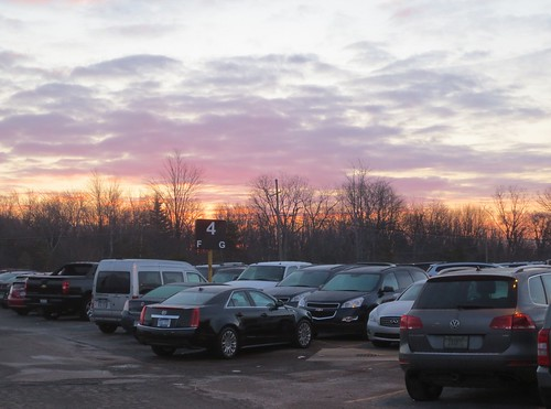 Sunrise over Airlines Parking