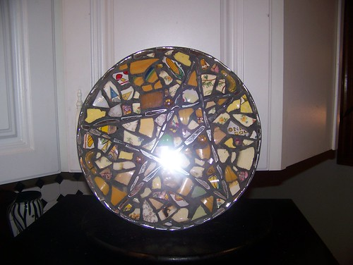 letter founder - yellow pentagram mirror mosaic by jim leftwich
