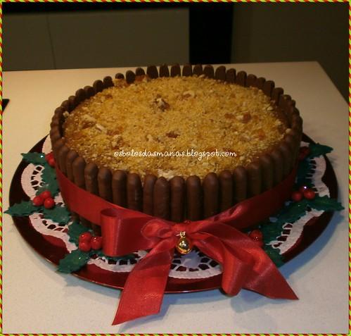 Bolo de Natal chocomousse by Osbolosdasmanas