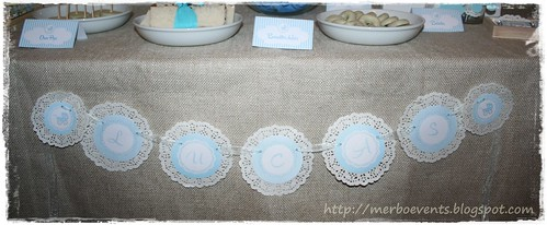 Baby Shower Lucas Banderin by Merbo Events