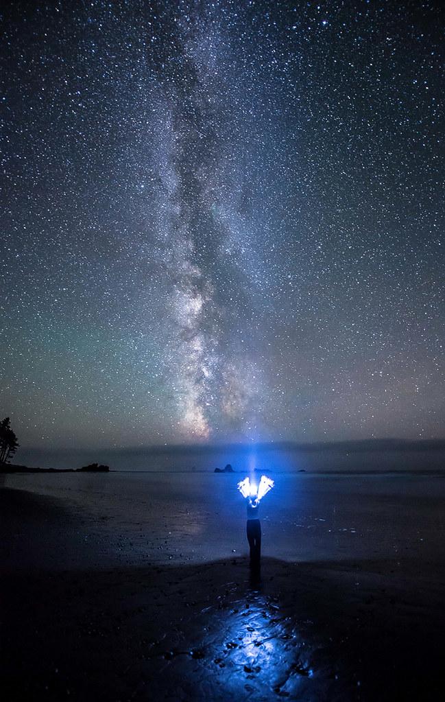 The Night Goddess Ruby Beach Wa Free Star Photography