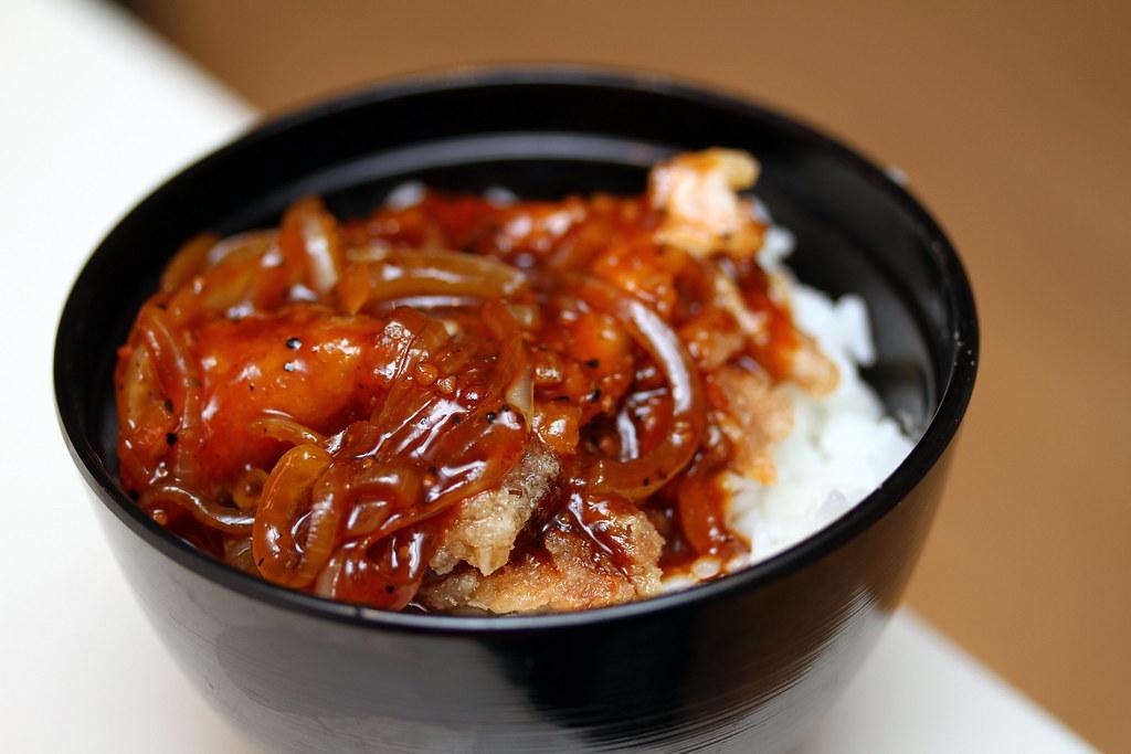 Genki Sushi's Black Pepper Chicken Don