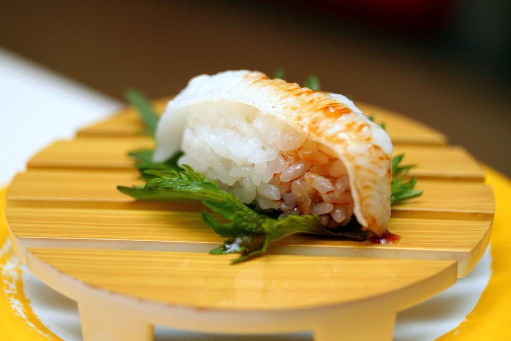Genki Sushi's Seared Fluke Fin (Aburi Engawa)