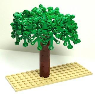 Boxy tree, leafy circle