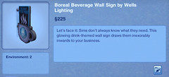 Boreal Beverage Wall Sign by Wells Lightning