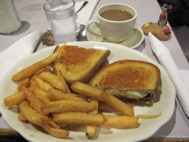 Patty melt and fries