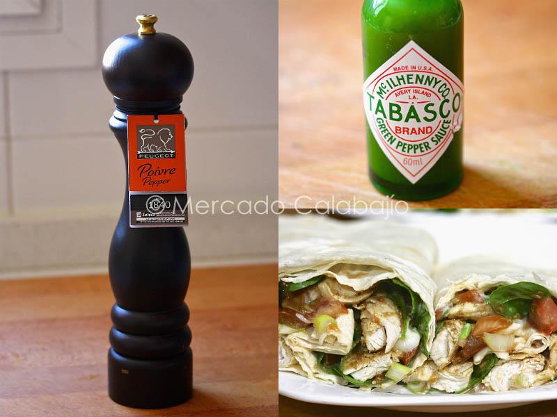 Pimentero - tabasco y wraps