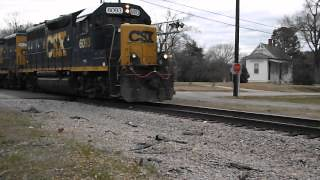 saved road railroad station train nc video pass rail rr raleigh restored depot passing division freight gaston csx geep vid louisburg gp382 2628 seaboard csxt franklinton 6093 electramotive