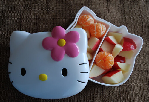 Hello side box of fruit kitty