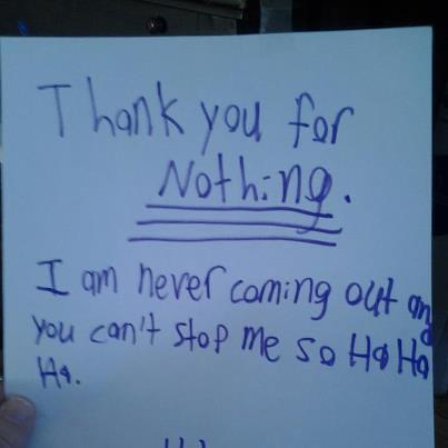 a grumpy letter by Emilyannamarie