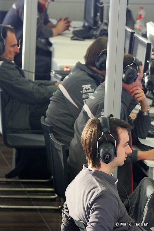Inside the Sauber team centre at Formula One Winter Testing, 3rd March 2013