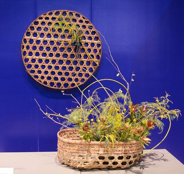 Basket Weave Ikebana Arrangement