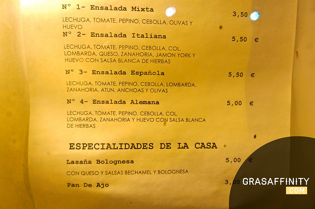 Carta Pizzeria Alemana // Grasaffinity