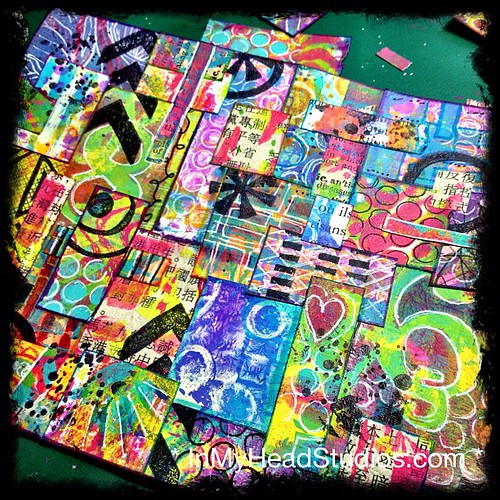 {be creative everyday} MARCH 8 :: gelli print collage by Vickie @ In My Head Studios