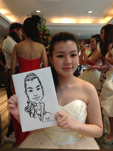 caricature live sketching for Recruit Express Dinner & Dance 2013 - 7