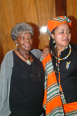 DSCF3546 SA Freedom Day - South Africa High Commission April 2005 With Thandi Klaasen RIP and Vuvu