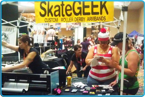 skateGEEK working hard at RollerCon in Las Vegas, 2012