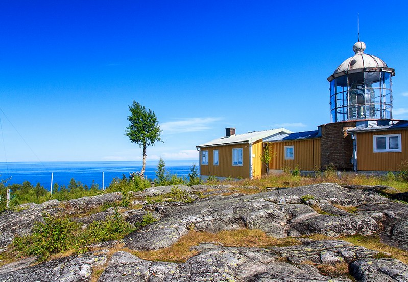 The Lighthouse from 1859 at 52 meters above sea level, Bjuröklubb, north Sweden