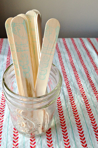 Stamped Wooden Forks