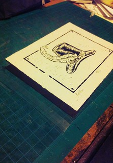 Busted my butt this week to print this edition, all protective envelopes I have are ONE HALF INCH too small. #printmaking