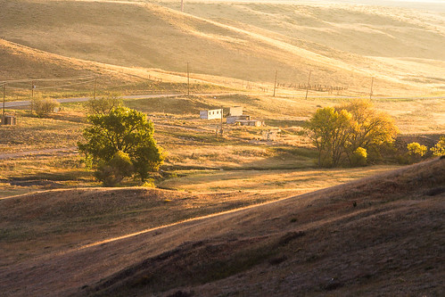 morning brown abandoned yellow architecture sunrise buildings colorado unitedstates prairie grasslands arvada leyden