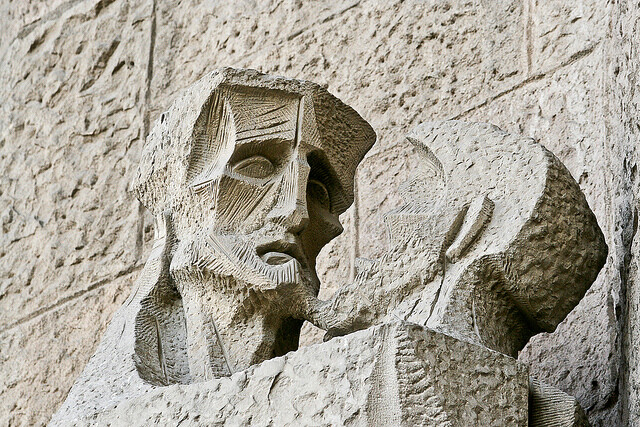 Judas Kisses Jesus (Sagrada Famil