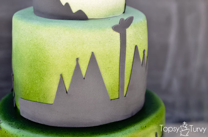 peter-pan-indian-encampment-silhouette-shadow-ombre-fondant-birthday-cake