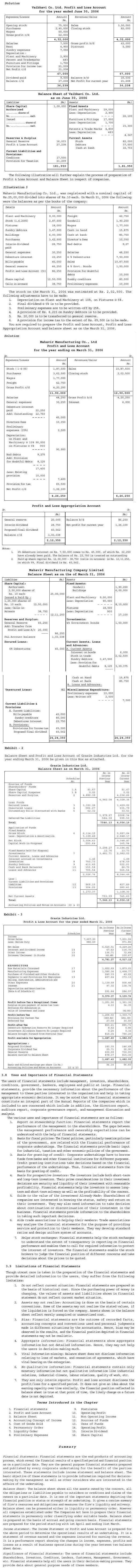 NCERT Class XII Accountancy II Chapter 3 - Financial Statements of a Company
