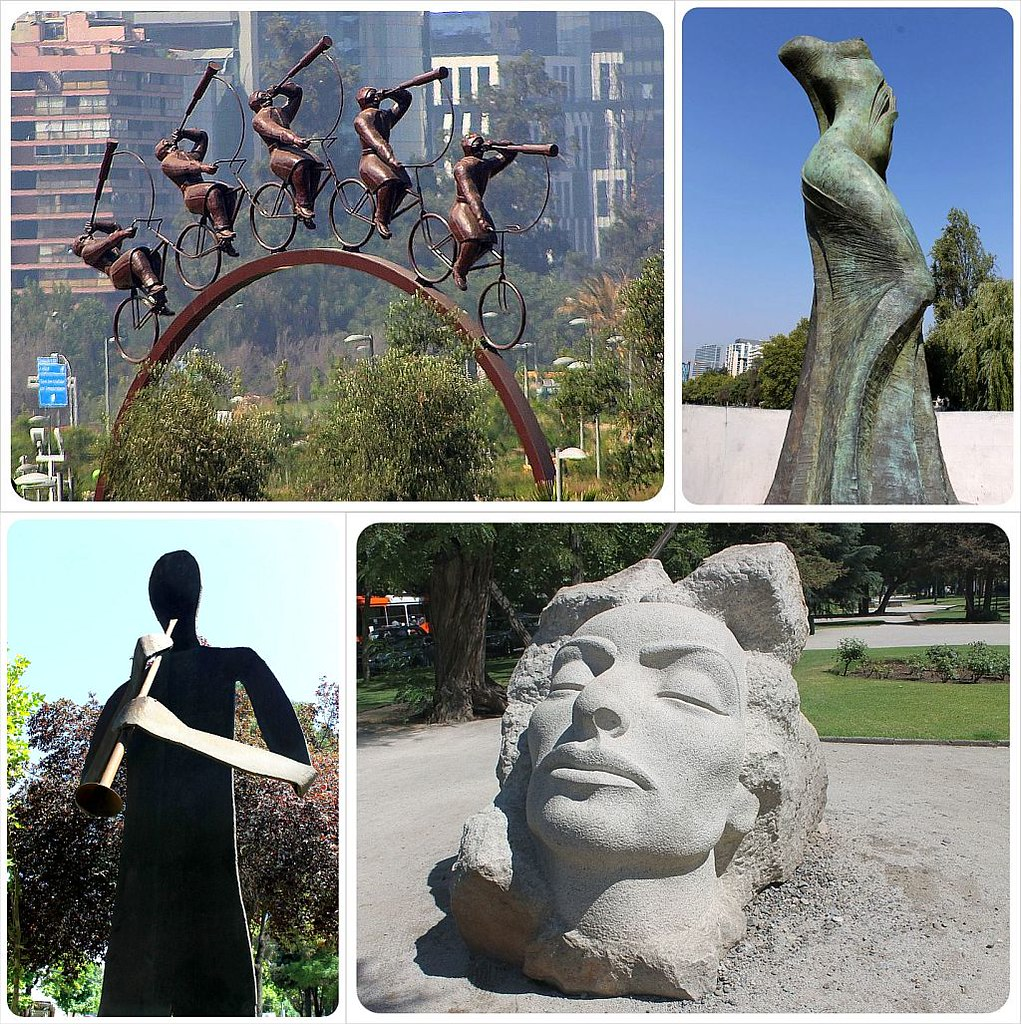 Sculptures in Santiago De Chile