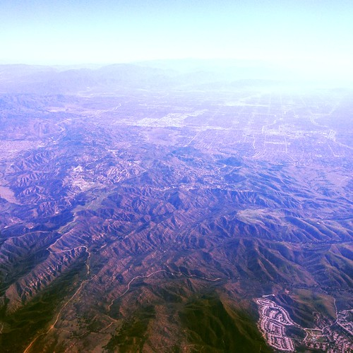 Flying into LA