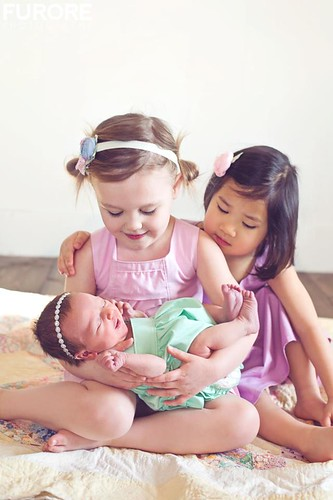 newborn - 3 girls