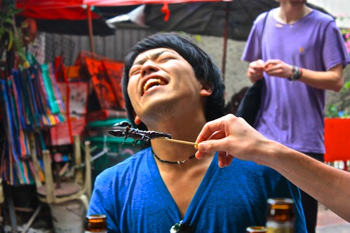 This Japanese guy lost rock-paper-scissors and had to eat the scorpion