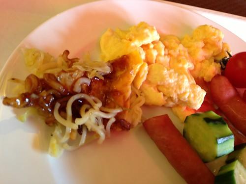 お好み焼き朝食