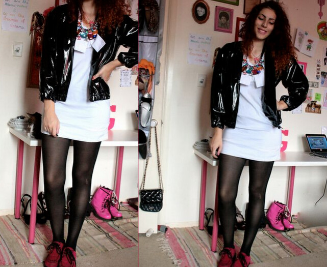 vintage pvs jacket and jewel collar ootd pixie and pixier