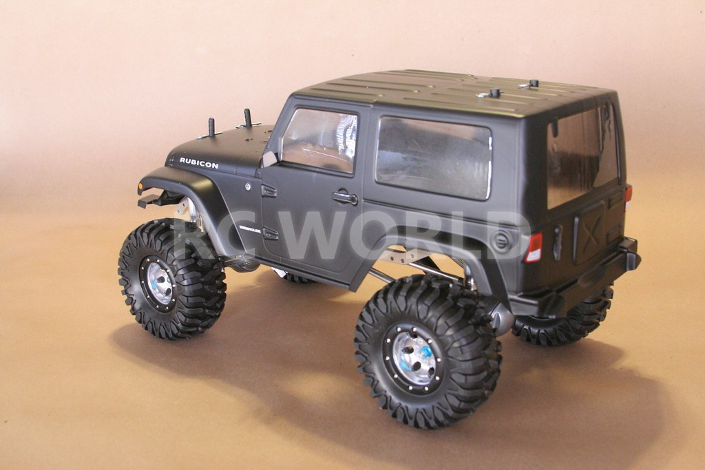 1 10 Rock Crawler RC Truck Jeep Wrangler Rubicon Black 2 4GHz RTR 90 Metal