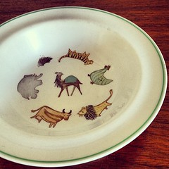 Arabia of Finland Zoo Child's bowl.
