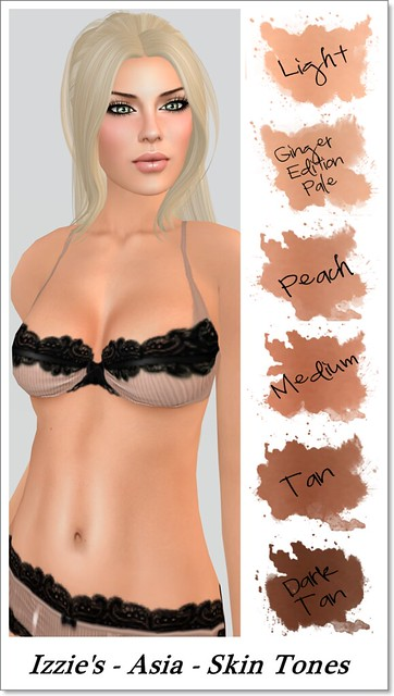 Izzie's Asia Skin Tone Range A