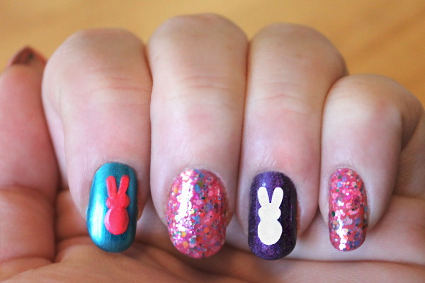 Peeps Nail Art Tutorial, 4