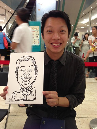 caricature live sketching for Takashimaya Good Friday Special - 3