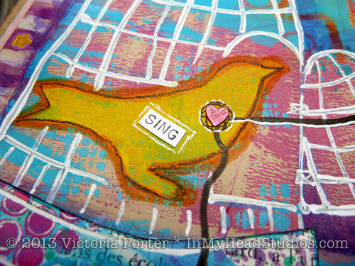 """Soar & Fly"" Art Journal Page : Bird"
